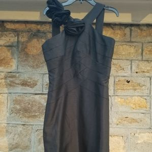 Charcoal Grey Cocktail Bridesmaids Dress size 8